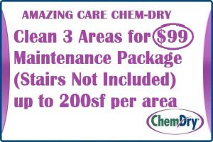 Clean 3 Areas For $99 Carpet Cleaning