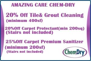 20% OFF Tile and Grout, Carpet Protectant, Premium Sanitizer